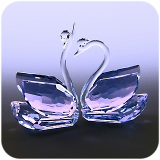 Crystal Swan (Purple) 2 pcs