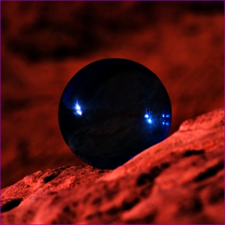 "Blue Crystal Ball (L: 4.2""110mm) $49.96"