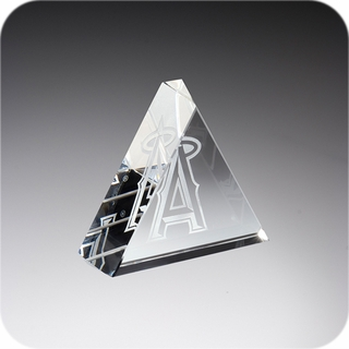 Crystal Triangle Paperweight