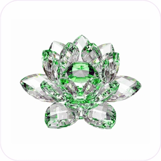 New-Style Green Crystal Lotus (S)