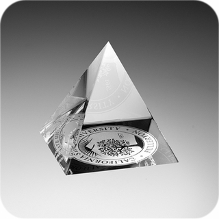 Crystal Pyramid Paperweight