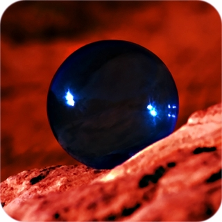 "Blue CrystalBall (4"",110mm) $54.96"