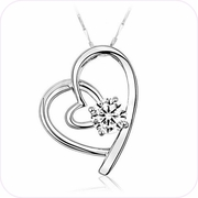 Shining Hearts Pendant Necklace #24075
