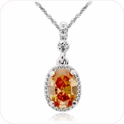 Fiery Crystal Pendant Necklace #24126