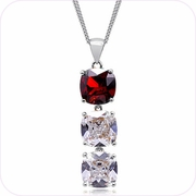 Crystal Cascade Pendant Necklace #24311