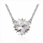 Crystal Solitaire Pendant Necklace #24353