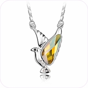 Sparkling Pigeon Pendant Necklace #24357