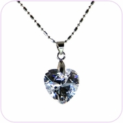 Sparkling Crystal Heart Pendant Necklace #10020