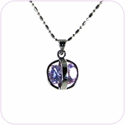 Captured Diamonds Crystal Pendant Necklace #10050