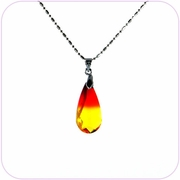 Fiery Spark Drop Crystal Pendant Necklace #10090