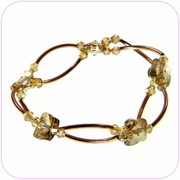 Golden Butterflies Crystal Bracelet #80010