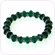 Emerald Bead and Crystal Bracelet #80020