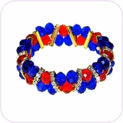 Red White and Blue Crystal Bracelet #80030
