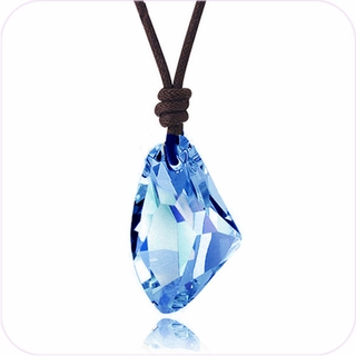 Light Blue Crystal in the Rough Pendant Necklace #24100