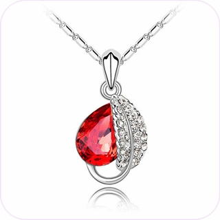 Shimmering Rose Bud Pendant Necklace #24172