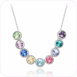 Crystal Rainbow Pendant Necklace #24302