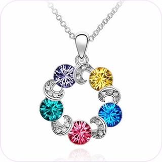 Shimmering Rainbow Pendant Necklace #24005