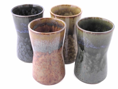 Blue and Brown Stained Beverage Set