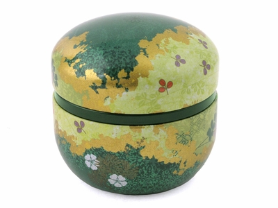 Decorative Tea Canister Pine Pattern