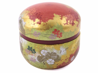 Decorative Tea Canister Cherry Blossom Pattern