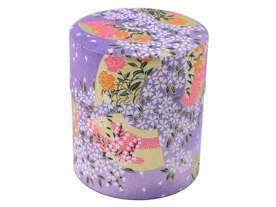 Purple Floral Canister