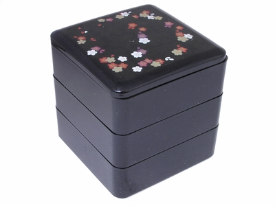 Small Black Cherry Blossom Jewelry Box