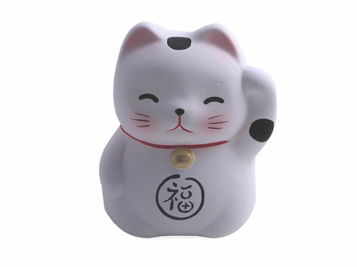 Ceramic Maneki Neko Fortune Cat Charm