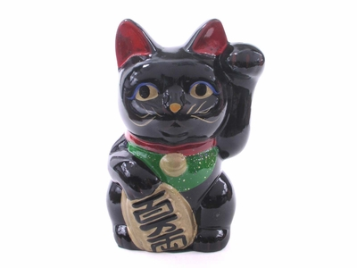 Five and a Half Inch Black Maneki Neko