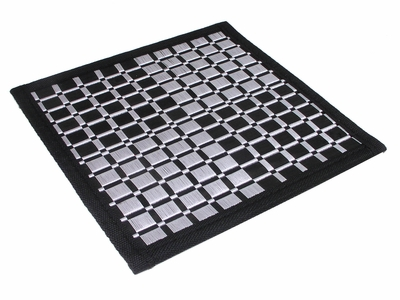 Black Bamboo Handmade Checker Trivet Pair
