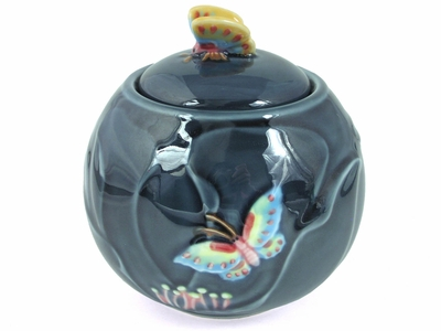 Butterfly on Flower Tea Canister