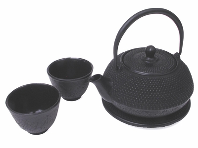 Multi Dots Black Tetsubin Tea Set