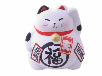 White Japanese Good Luck Cat