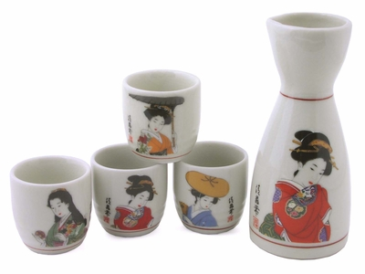 Japanese Women Sake Set