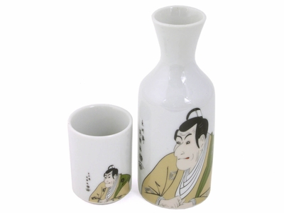 "Japanese Kabuki Play"" Sake Set (LAST ONE)"""