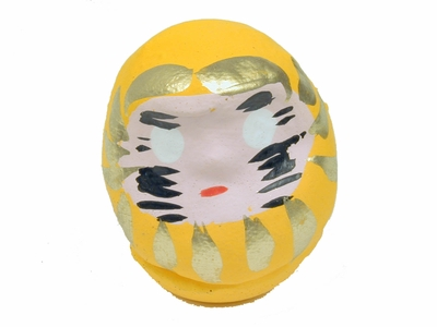 Tiny Yellow Daruma