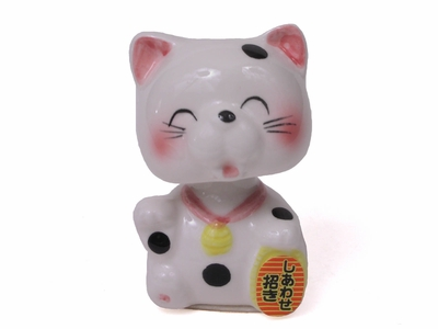 Maneki Neko with Spring Neck