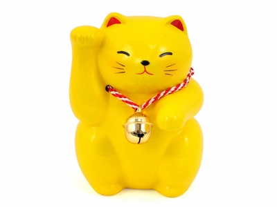 Purrfectly Yellow Maneki Neko