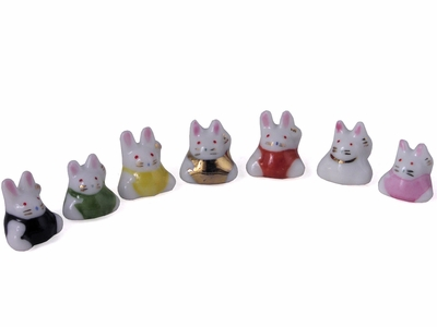 Assorted Colors Lucky Rabbit Figurine (One Rabbit Only)