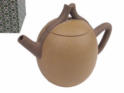 Green Sandy Line Yixing Teapot