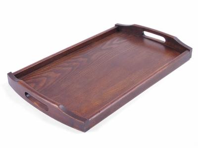 Large Wooden Tea Tray