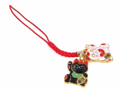 Lucky Cat or Maneki Neko Charms