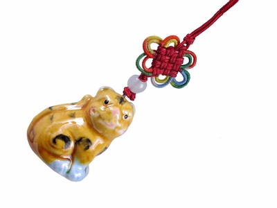 Tiger Ceramic Lucky Charm