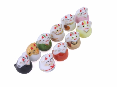 Super Tiny Porcelain Lucky Cats (One Cat Only)