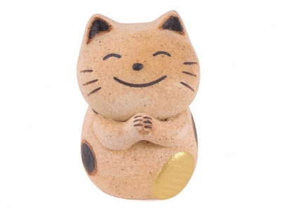Brown Calico Ceramic Lucky Cat