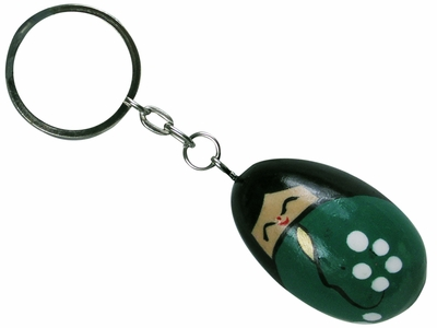 Cute Painted Japanese Girl Egg shaped Novelty Keychain