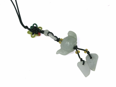 Small Genuine Jade Chinese Knot Teapot Charm (LAST ONE)