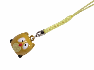 Owl Bell Charm with Strap