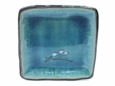 Painted Blues Square Dish