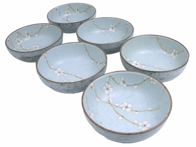 6 Inch Cherry Blossom Oriental Bowl Set