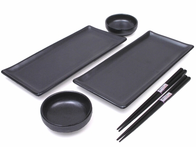 Black Alloy Tableware Set for Two